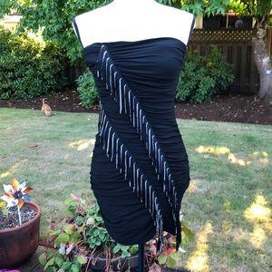 2B Bebe Tina Fringe Tube Dress
